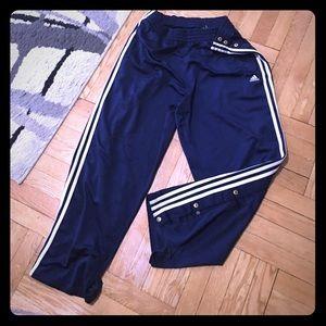 ⏳men's Adidas snap button sweatpants